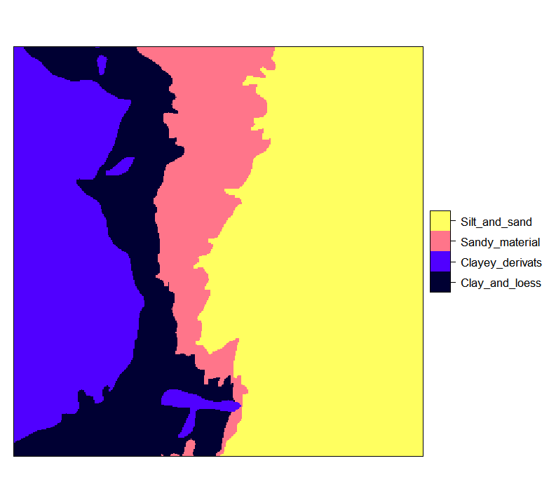 Ebergotzen zones rasterized to 25 m resolution and with correct factor labels.
